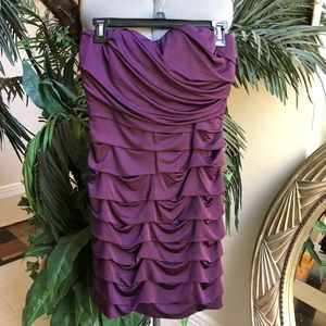 NWT SPEECHLESS Purple Prom Strapless Dress